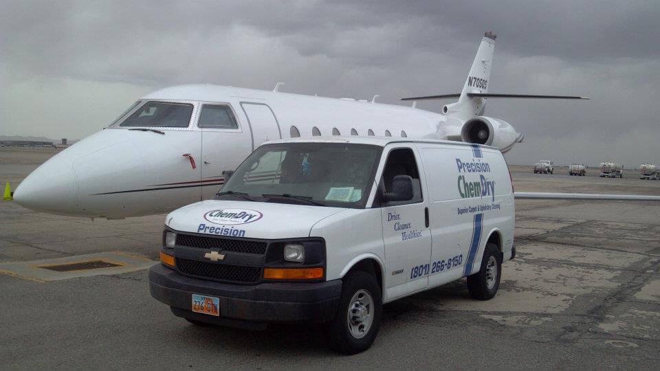 precision chem-dry van at salt lake city airport