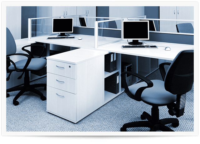 clean office cubicles after commercial carpet cleaning in salt lake city
