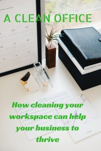 how cleaning your workspace can help your business thrive graphic