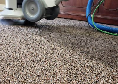 chem-dry tech performing commercial carpet cleaning in salt lake city business