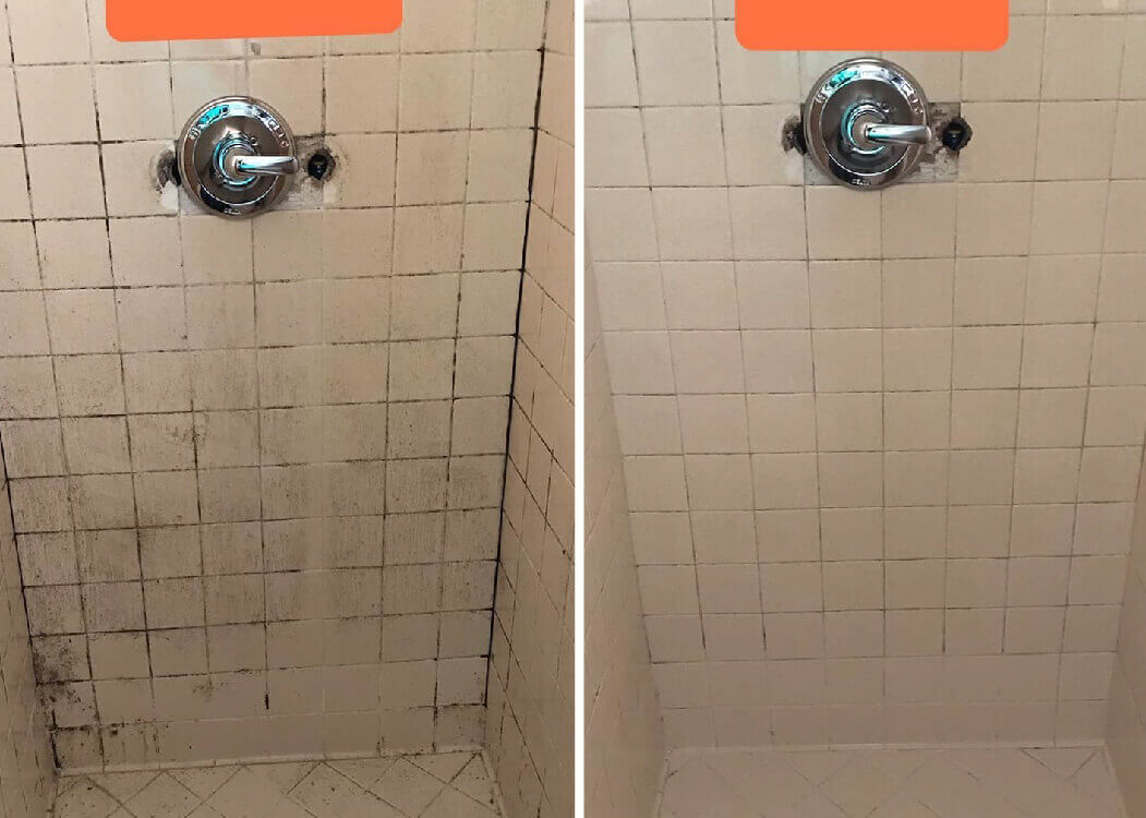 shower before and after tile cleaning in salt lake city ut