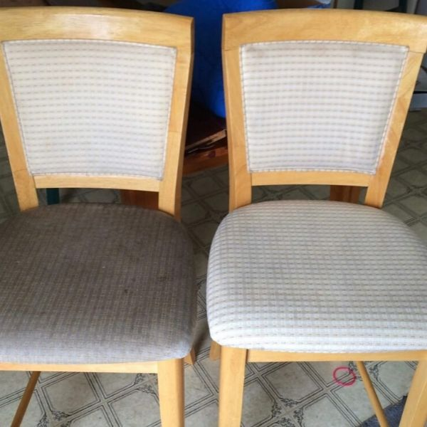 chair before and after upholstery cleaning in slc ut